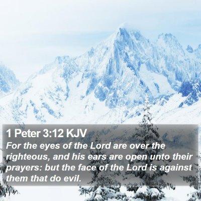 1 Peter 3:12 KJV Bible Verse Image