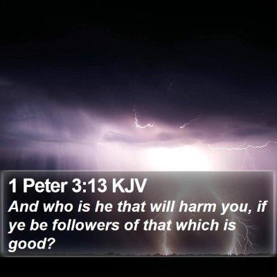 1 Peter 3:13 KJV Bible Verse Image