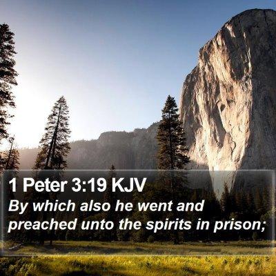 1 Peter 3:19 KJV Bible Verse Image