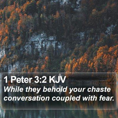 1 Peter 3:2 KJV Bible Verse Image