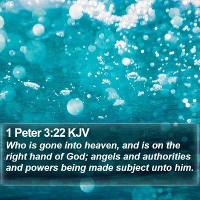 1 Peter 3:22 KJV Bible Verse Image
