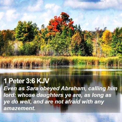 1 Peter 3:6 KJV Bible Verse Image