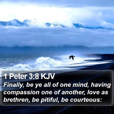 1 Peter 3:8 KJV Bible Verse Image