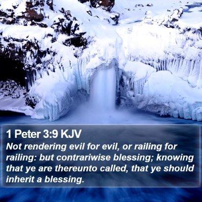 1 Peter 3:9 KJV Bible Verse Image