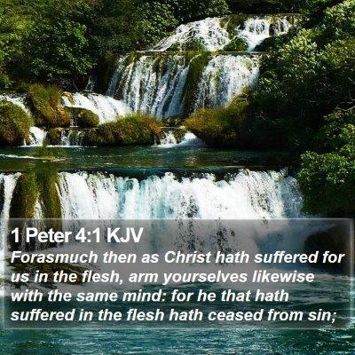 1 Peter 4:1 KJV Bible Verse Image