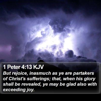 1 Peter 4:13 KJV Bible Verse Image