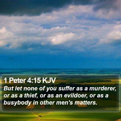 1 Peter 4:15 KJV Bible Verse Image