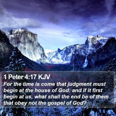 1 Peter 4:17 KJV Bible Verse Image