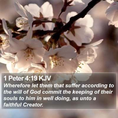 1 Peter 4:19 KJV Bible Verse Image
