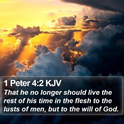 1 Peter 4:2 KJV Bible Verse Image