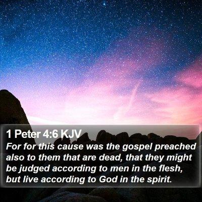1 Peter 4:6 KJV Bible Verse Image