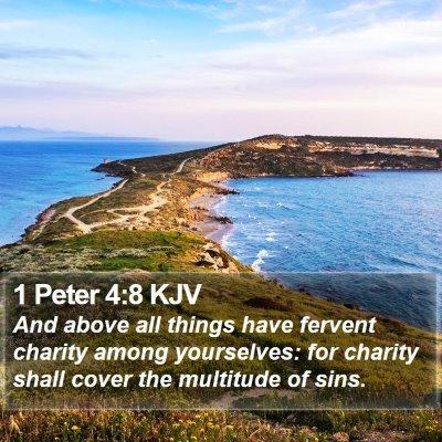 1 Peter 4:8 KJV Bible Verse Image