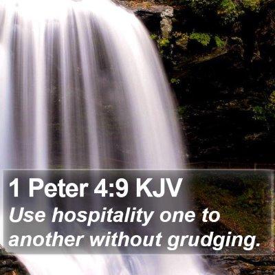 1 Peter 4:9 KJV Bible Verse Image