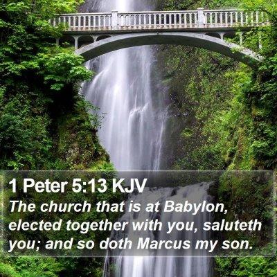 1 Peter 5:13 KJV Bible Verse Image