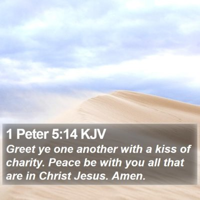 1 Peter 5:14 KJV Bible Verse Image