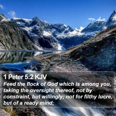 1 Peter 5:2 KJV Bible Verse Image