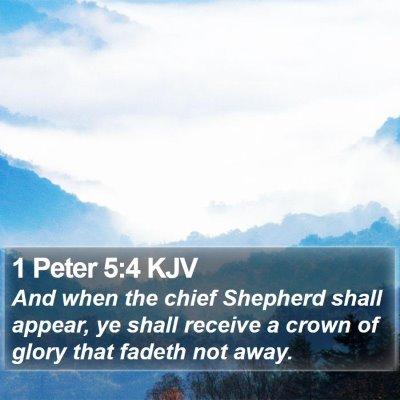1 Peter 5:4 KJV Bible Verse Image
