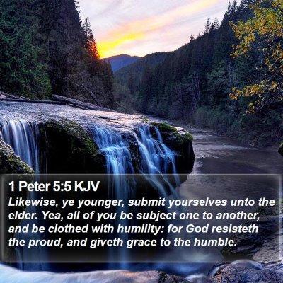1 Peter 5:5 KJV Bible Verse Image