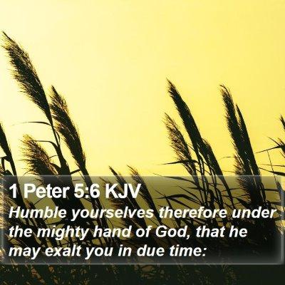 1 Peter 5:6 KJV Bible Verse Image
