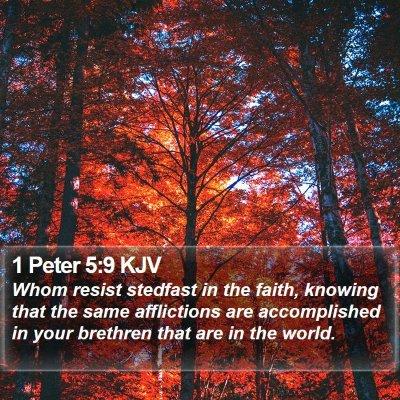 1 Peter 5:9 KJV Bible Verse Image