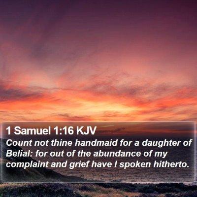1 Samuel 1:16 KJV Bible Verse Image