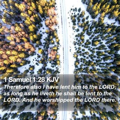 1 Samuel 1:28 KJV Bible Verse Image