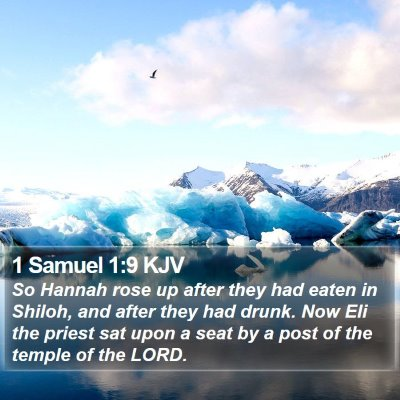 1 Samuel 1:9 KJV Bible Verse Image