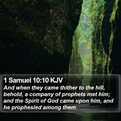 1 Samuel 10:10 KJV Bible Verse Image