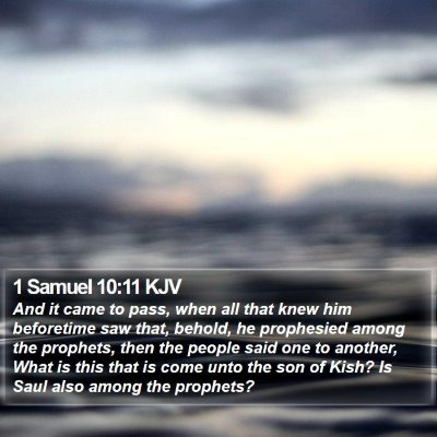 1 Samuel 10:11 KJV Bible Verse Image