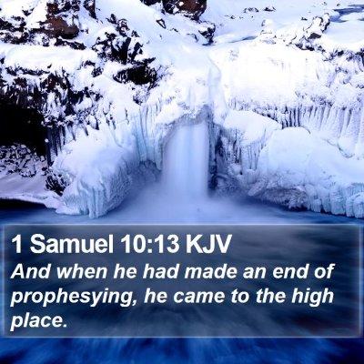 1 Samuel 10:13 KJV Bible Verse Image