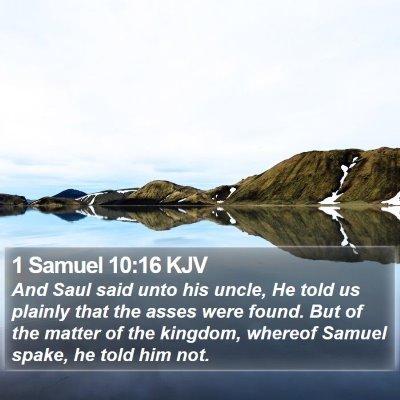 1 Samuel 10:16 KJV Bible Verse Image
