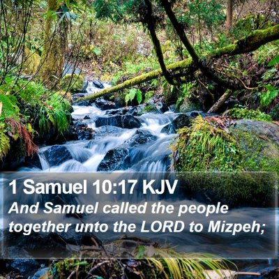 1 Samuel 10:17 KJV Bible Verse Image