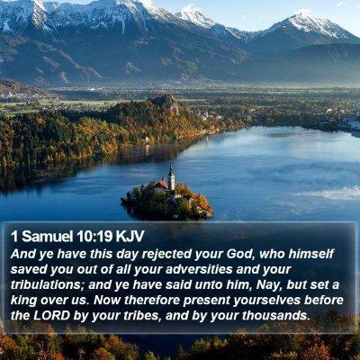 1 Samuel 10:19 KJV Bible Verse Image