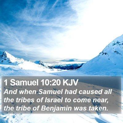 1 Samuel 10:20 KJV Bible Verse Image