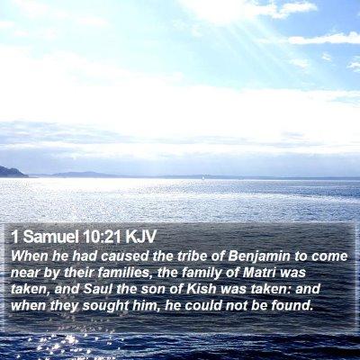 1 Samuel 10:21 KJV Bible Verse Image