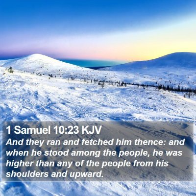 1 Samuel 10:23 KJV Bible Verse Image