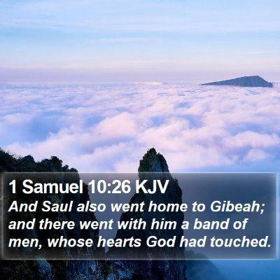1 Samuel 10:26 KJV Bible Verse Image