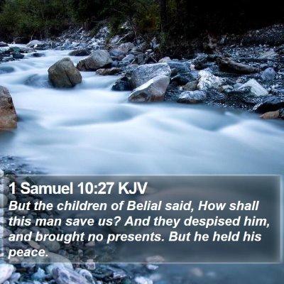 1 Samuel 10:27 KJV Bible Verse Image
