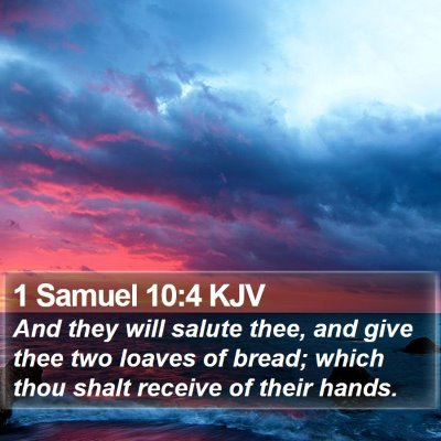 1 Samuel 10:4 KJV Bible Verse Image