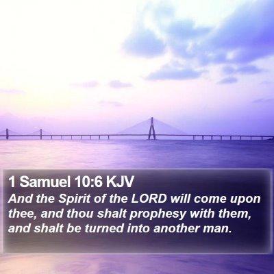1 Samuel 10:6 KJV Bible Verse Image