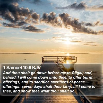 1 Samuel 10:8 KJV Bible Verse Image