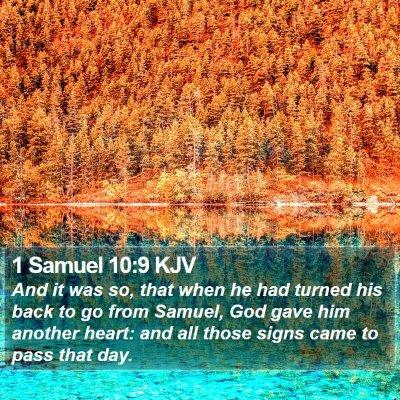 1 Samuel 10:9 KJV Bible Verse Image