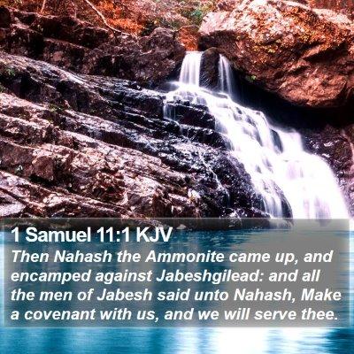1 Samuel 11:1 KJV Bible Verse Image