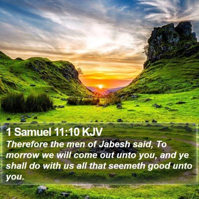 1 Samuel 11:10 KJV Bible Verse Image