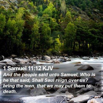 1 Samuel 11:12 KJV Bible Verse Image