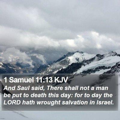 1 Samuel 11:13 KJV Bible Verse Image
