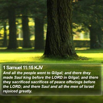 1 Samuel 11:15 KJV Bible Verse Image