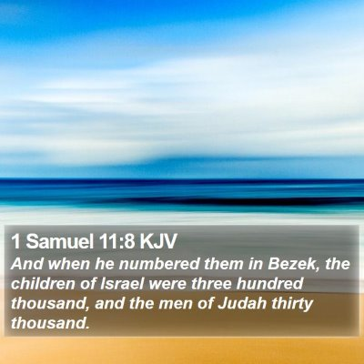 1 Samuel 11:8 KJV Bible Verse Image