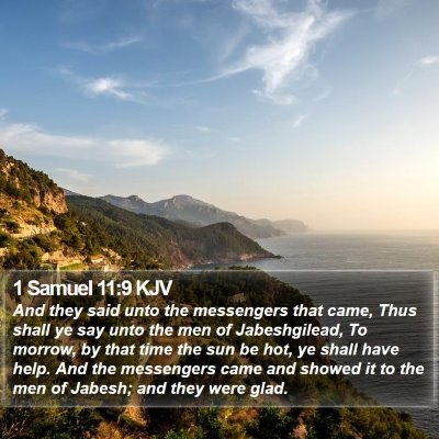 1 Samuel 11:9 KJV Bible Verse Image
