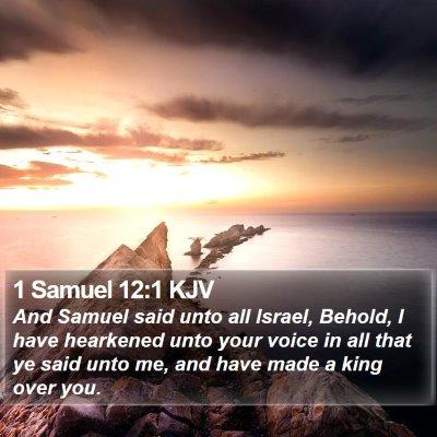 1 Samuel 12:1 KJV Bible Verse Image